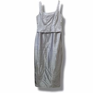 Cachet Silver Formal Sleeveless Prom Dress 12